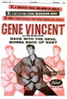 Capitol reord ad for Gene Vincent .