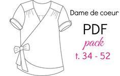 """Patron """"Dame de Coeur"""" - PDF (34-52) / Chut Charlotte"""