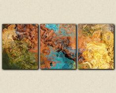 Triptych art stretched canvas print 20x48 in by FinnellFineArt, $250.00