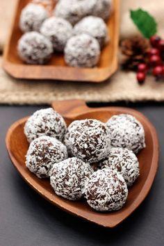 Grain-Free No-Bake Gingerbread Cookie Balls - Free People Blog (buckwheat honey for molasses)