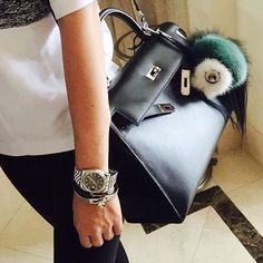 Hermes Kelly With Fendi Monster..