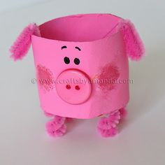 Toilet paper roll pig