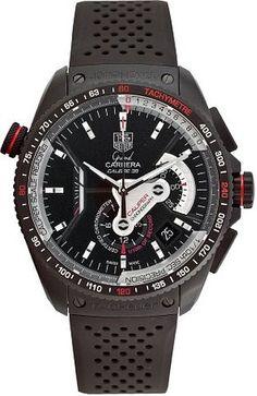 Black Anodized Titanium Grand Carrera Chronometer Rubber Strap