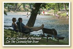 A lazy summer afternoon on the Oconaluftee River