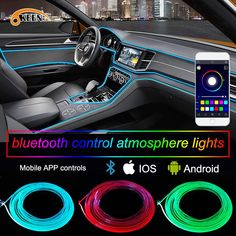2019 APP 6M Car Decor 12V Lighter LED Lamp Strip Thread Sticker Decals Tags Accessory Flexible Neon Light EL Wire Rope Tube From Sara1688, $66.33 | DHgate.Com