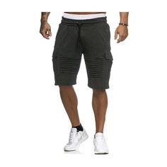 Trendy Hommes Capri Jeans Bermuda Cargo short pantalon court vintage short Chino