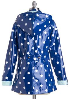 This is the only polka dot rain coat for an adult I've been able to find ever! Why does everyone assume only little kids want to wear polka dots :)    Rain Dots Keep Falling Raincoat, #ModCloth