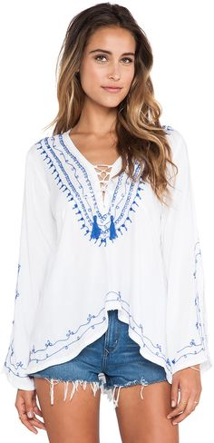 Surf Gypsy Embroidered Hi-Lo Tunic
