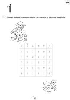 Magia cifrelor-caiet de fise de lucru pentru grupa mare Tracing Worksheets, Preschool Worksheets, Handwriting, Learning, Words, Magick, Bebe, Penmanship, Hand Lettering