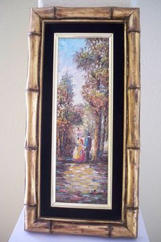Vintage old pallet knife painting of man and by Timebanditvintage, $25.00