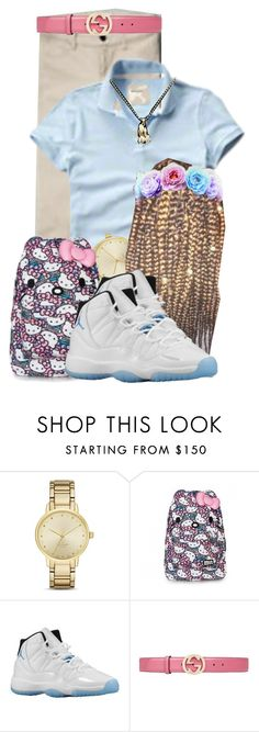 """""""When U Kill It In Uniform """" by aniahrhichkhidd ❤ liked on Polyvore featuring Kate Spade, Retrò and Gucci"""