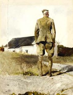 Andrew Wyeth, V.F.W. , 1964. Watercolor and drybrush on paper.