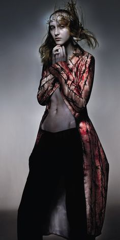 A gloomy and mournful look at the creative genius of Alexander McQueen by Nick Knight.