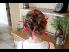 Ribboned Bobby Pins {Perfect for Holidays and School Colors Day}
