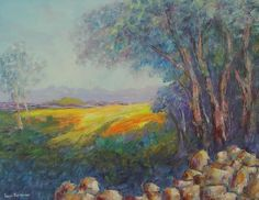 "Buy AN ORIGINAL LOUIS PRETORIUS:""Sunny Fields"" (800mm x 600mm x 20mm)for R3,300.00"