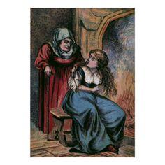 Fairy Godmother Cinderella Book Illustrations Find lots more of the best vintage book illustrations at vintagebookillustrations.com