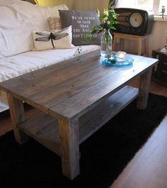 Rustiikkinen sohvapöytä