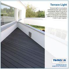 Terrace Light è la soluzione architettonica per ogni terrazzo valorizzando angoli a cui non si potrà più rimanere indifferenti. Il sole al crepuscolo e lo scenario delle luci a LED di notte faranno il resto in gran segreto. #twinson #terracelight #architecture #design #terrazzo #WPC