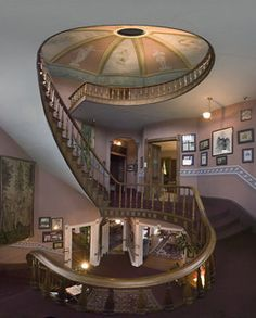Ann Starrett Mansion is sublimely situated on a bluff overlooking Puget Sound.  The  Mansion was built by wealthy contractor George E. Starrett in 1899 for his bride, Ann.  It is now open to guests as an 8 room hotel with a mysterious three tiered spiral staircase rising up a 70 foot tower.
