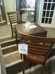 $149 For This #checkers Table And 2 Chairs. Relax In More Ways Than One