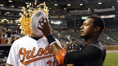 Adam Jones resurrects Orioles' pie celebration on Opening...: Adam Jones resurrects Orioles' pie celebration on… #BaltimoreOrioles #Orioles