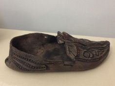 Shoe from Viking age Ireland. In the National Museum of Ireland (also the source of the photo).