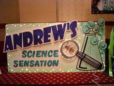 A Bravenet.com Photo Album - - D.J. sign for a SCIENCE themed party.