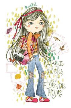 PupeilustraEstampas Ruabel - Pupeilustra Art Journal Pages, Girl Cartoon, Planner Stickers, Character Art, Cute Girls, Cool Art, Illustration Art, 1, Friday