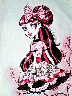 ♥ Monster High ♥ Ever After High ♥ Monster High Art, Monster High Dolls, Amazing Drawings, Art Drawings, Tim Burton Art Style, Personajes Monster High, Dibujos Cute, Witch Art, Gothic Art