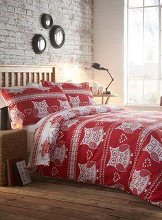Winter Owl Essential Bedding Set Pinned by www.myowlbarn.com
