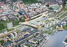 BIG unveils transport hub for one of Sweden's biggest cities.