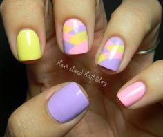 Cute pastel nail art using Lime Crime nail polish!