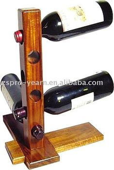 Vintage Wine Wooden rack with 2 types of wood (in terms of colour)- simple and glossy garnish