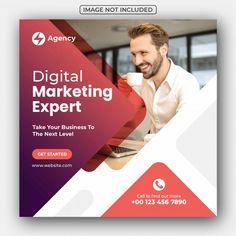 Social Media Poster, Social Media Banner, Social Media Design, Marketing Digital, Social Media Marketing, Business Marketing, Social Networks, Design Responsive, Social Media Engagement