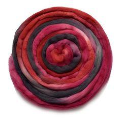 Tasmanian Merino Wool Combed Top (Roving) Velvet Rose 13030