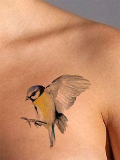 Bird Watercolor Tattoo - AsIfTattooed.com