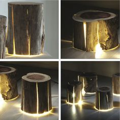WOW! The side table could also be a light? ~ET