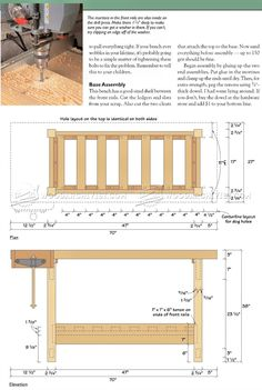 #1542 Wood Workbench Plan - Workshop Solutions Plans, Tips and Tricks