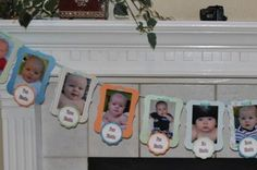 Birthday Decoration, First Birthday Photo Banner, Custom Theme, Party Decor, First Boy Birthday, Girl Birthday. $31.50, via Etsy.