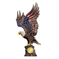 """We Will Never Forget"" September 11 Tribute Eagle  Sculpture - Bradford Exchange"