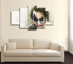 HD Printed Joker Batman Portrait 5 Piece Canvas