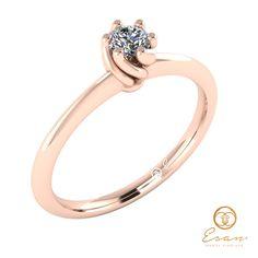 Inel de logodna din aur alb cu diamant ES28 Aur, Engagement Rings, Jewelry, Fashion, Jewels, Enagement Rings, Moda, Wedding Rings, Jewlery