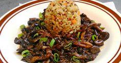 Arroz 7 grãos com legumes e shimeji na manteiga