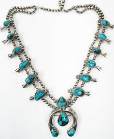 Bisbee Turquoise, Squash Blossom Necklace, Native American Jewelry, Deep Blue, Indian Jewelry, Blossoms, Turquoise Necklace, Sky, Jewellery