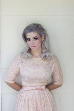 Marina & The Diamonds lead singer Marina Diamandis. Purple, silver, pink. Lovely. Via www.hellogiggles.com/radioactive-a-chat-with-marina-the-diamonds