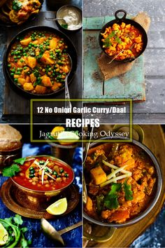 12 No Onion Garlic Curry/Daal Recipes image Lunch Recipes, Vegetarian Recipes, Dinner Recipes, Cooking Recipes, Vegetarian Platter, Jain Recipes, Indian Food Recipes, Ethnic Recipes, Aloo Recipes