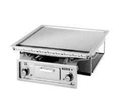 """Wells Griddle 22"""" W. - G-136  Griddle, built-in, electric, smooth polished steel griddle plate, 22"""" wide x 18"""" deep grill area, stainless steel construction, zoned thermostatic heat control"""