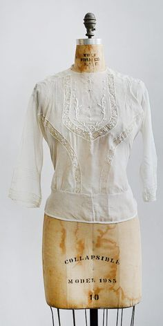 antique 1910s Edwardian top / Waking Vera Blouse from Adored Vintage
