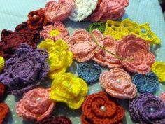 Apliques de crochê | Laboratório de Crochê | Elo7