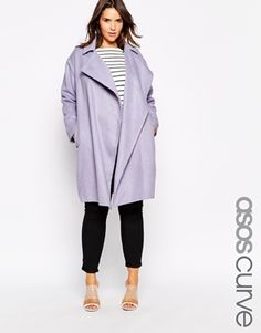 7bc8721e74720 See more. ASOS CURVE Cocoon Duster Coat with Waterfall Coat Pattern Sewing